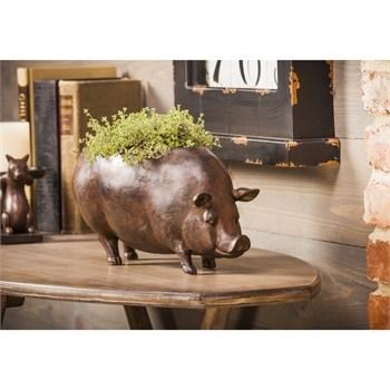 Resin Pig Planter
